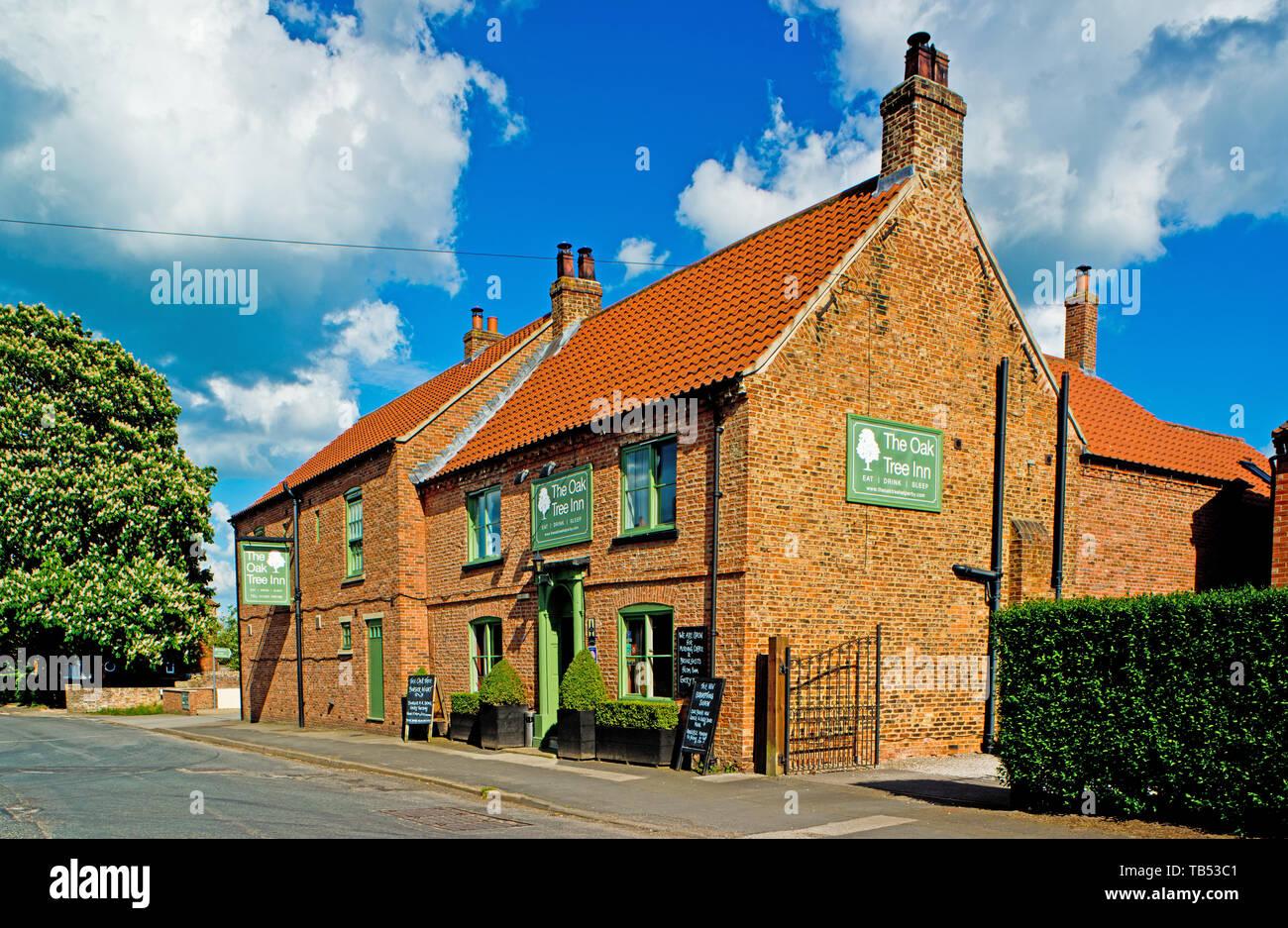 The Oak Tree Inn, Brafferton, North Yorkshire, England Stock Photo