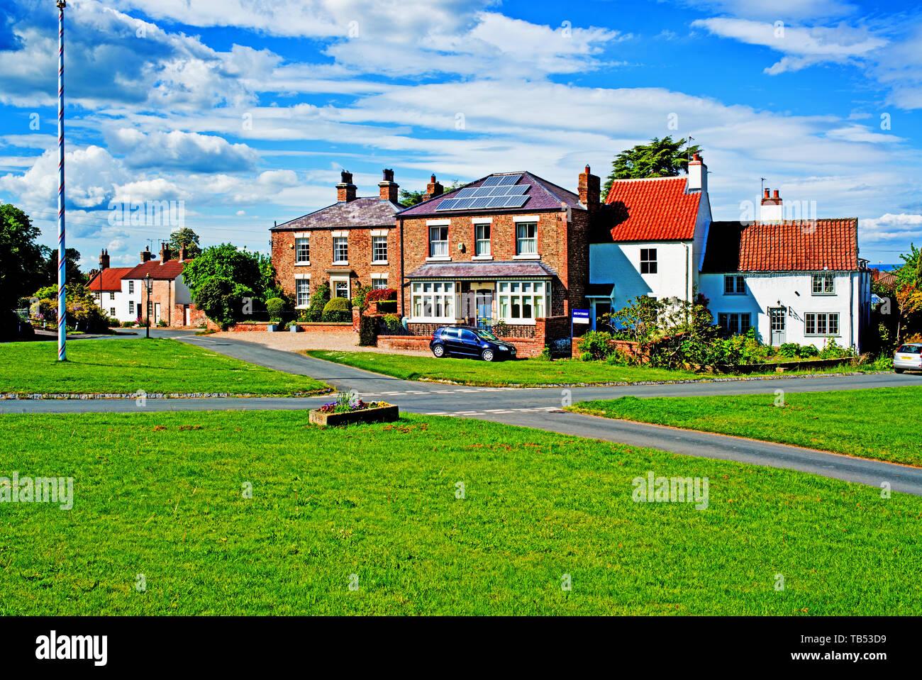 Village Green, Aldborough, North Yorkshire, England Stock Photo