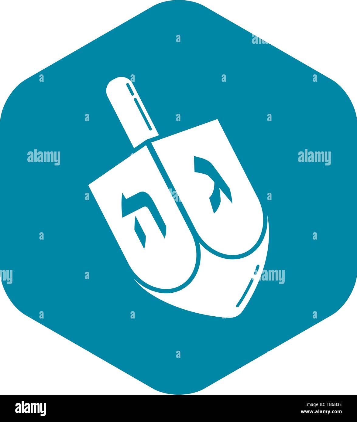 Dreidel icon, simple style - Stock Vector