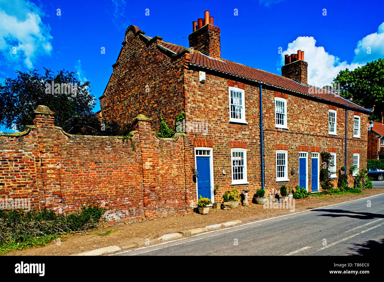 Cottages, Helperby, North Yorkshire, England Stock Photo
