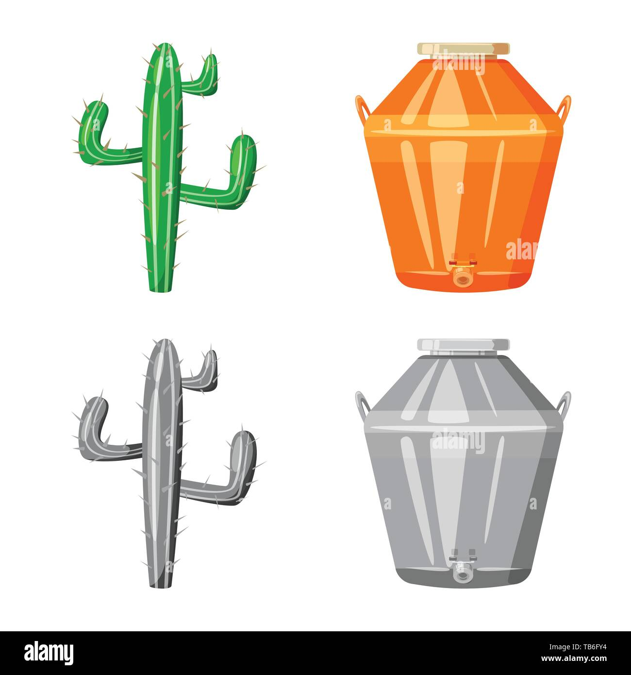 Isolated object of cafe and Latin icon. Collection of cafe and national stock vector illustration. - Stock Image