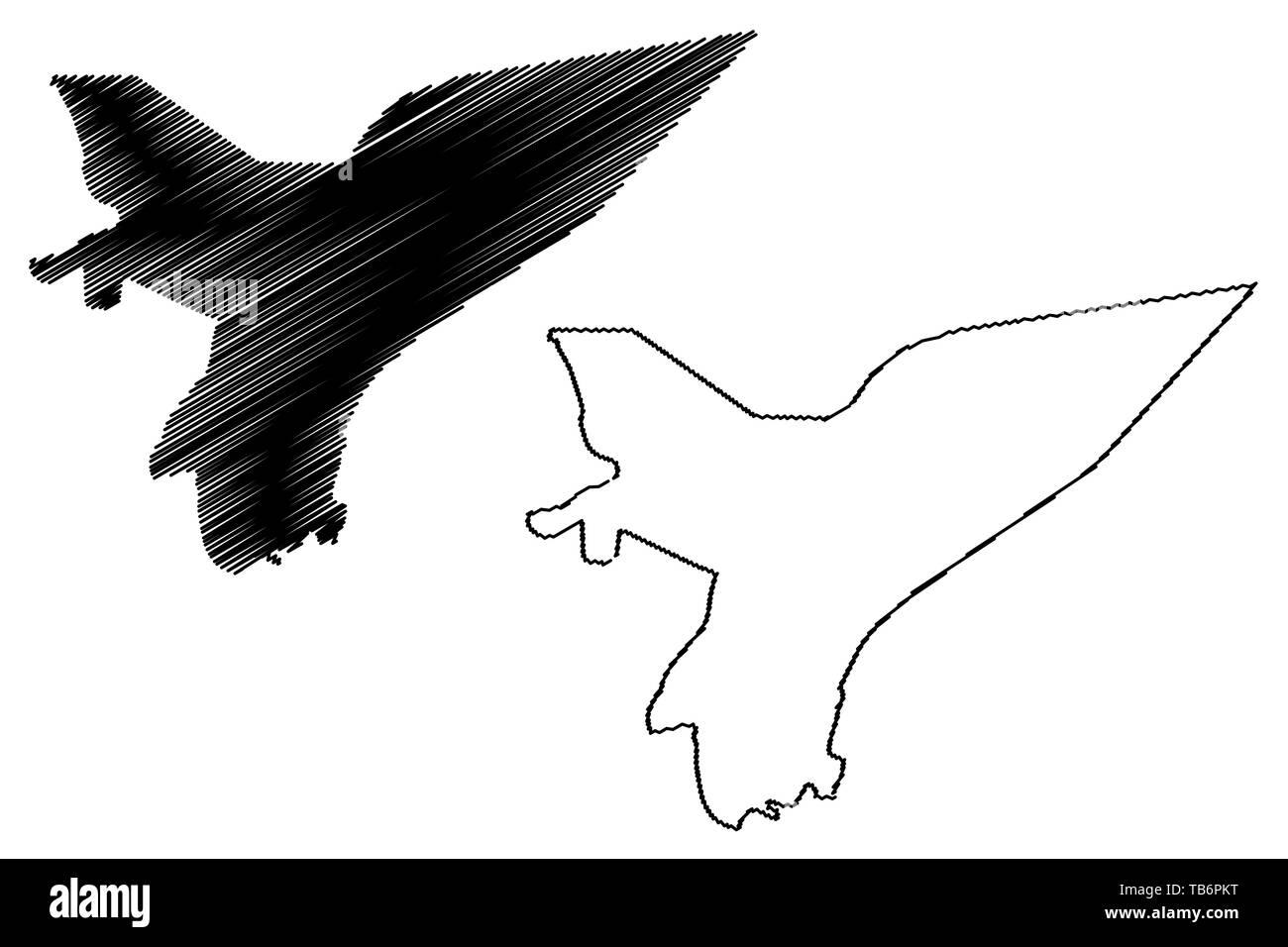 Marib Governorate (Governorates of Yemen, Republic of Yemen) map vector illustration, scribble sketch Ma'rib map - Stock Vector