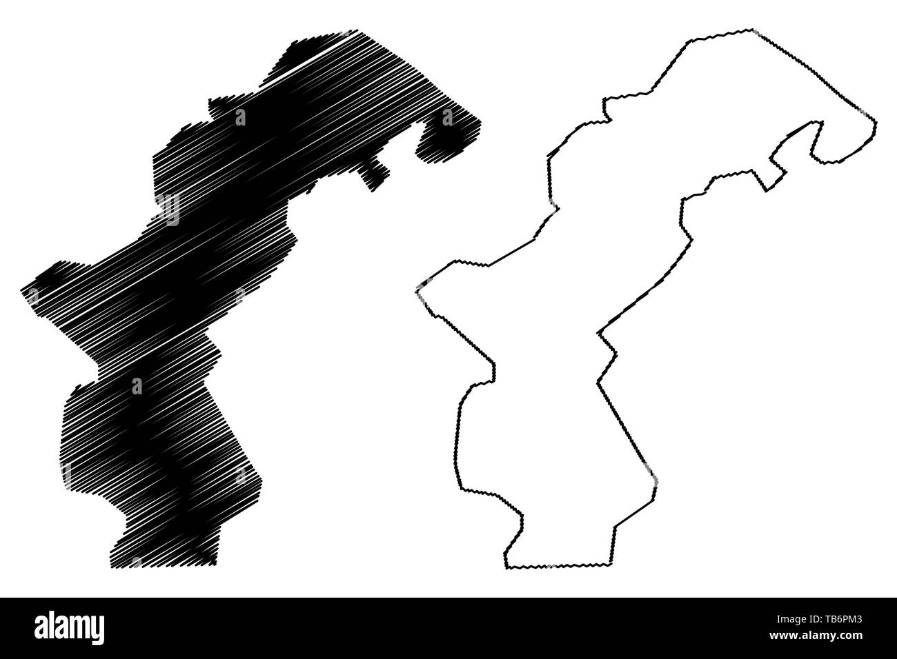Amanat Al Asimah Governorate (Governorates of Yemen, Republic of Yemen) map vector illustration, scribble sketch Sanaa or Sana map - Stock Vector