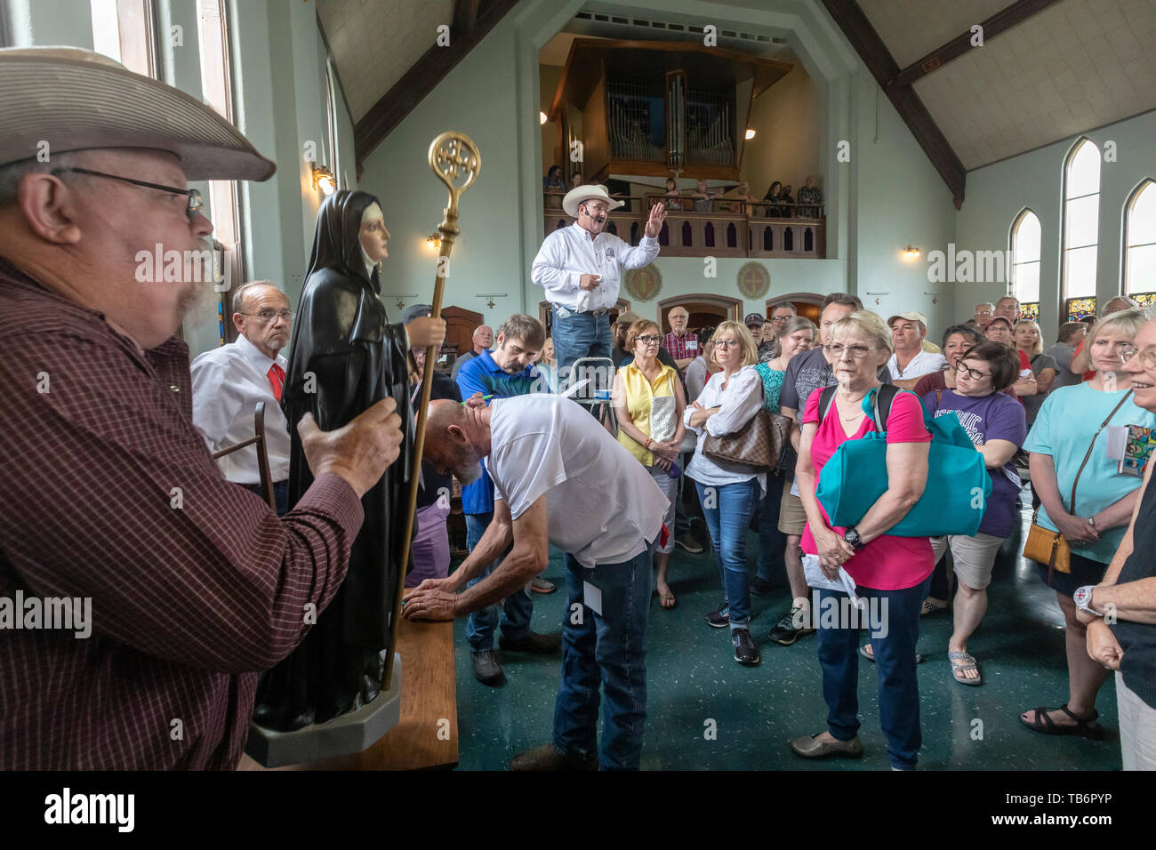 Fort Smith, Arkansas - Religious items and everyday objects were auctioned off at the St. Scholastica Monastery. The monastery is downsizing to a much - Stock Image
