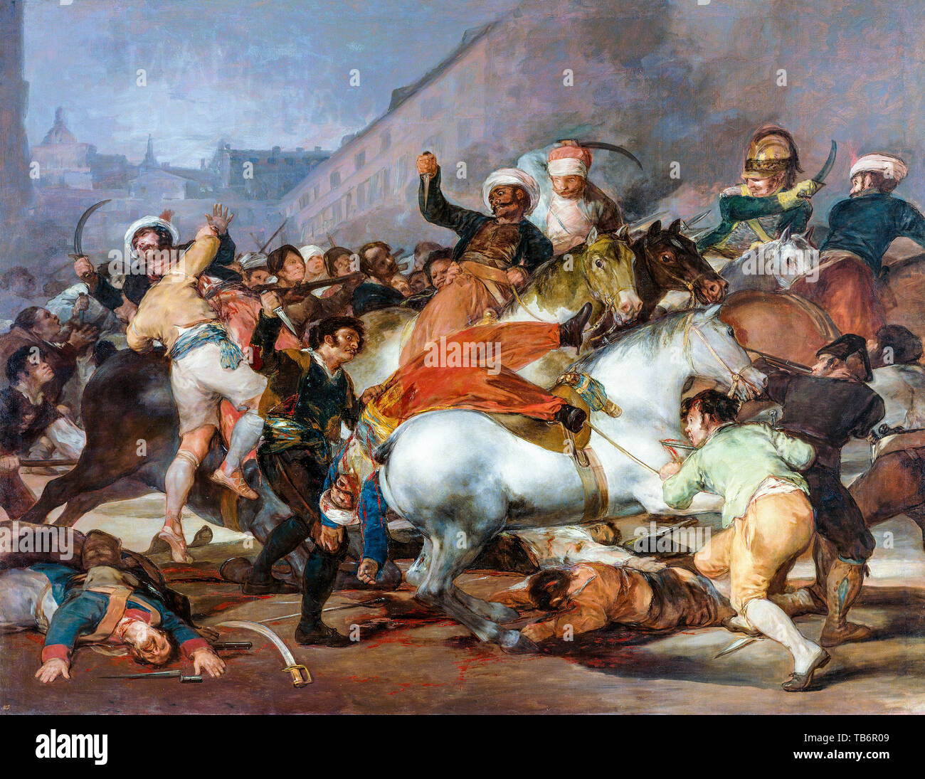 Francisco Goya, The Second of May 1808,or,The Charge of the Mamelukes, painting, 1814 - Stock Image