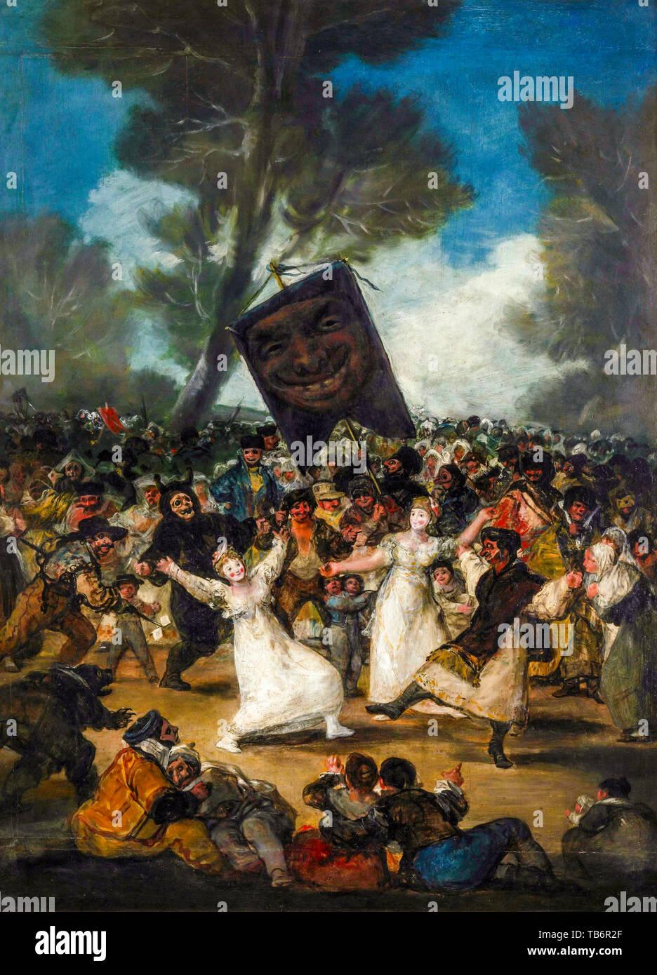Francisco Goya, The Burial of the Sardine, painting, circa 1812 - Stock Image