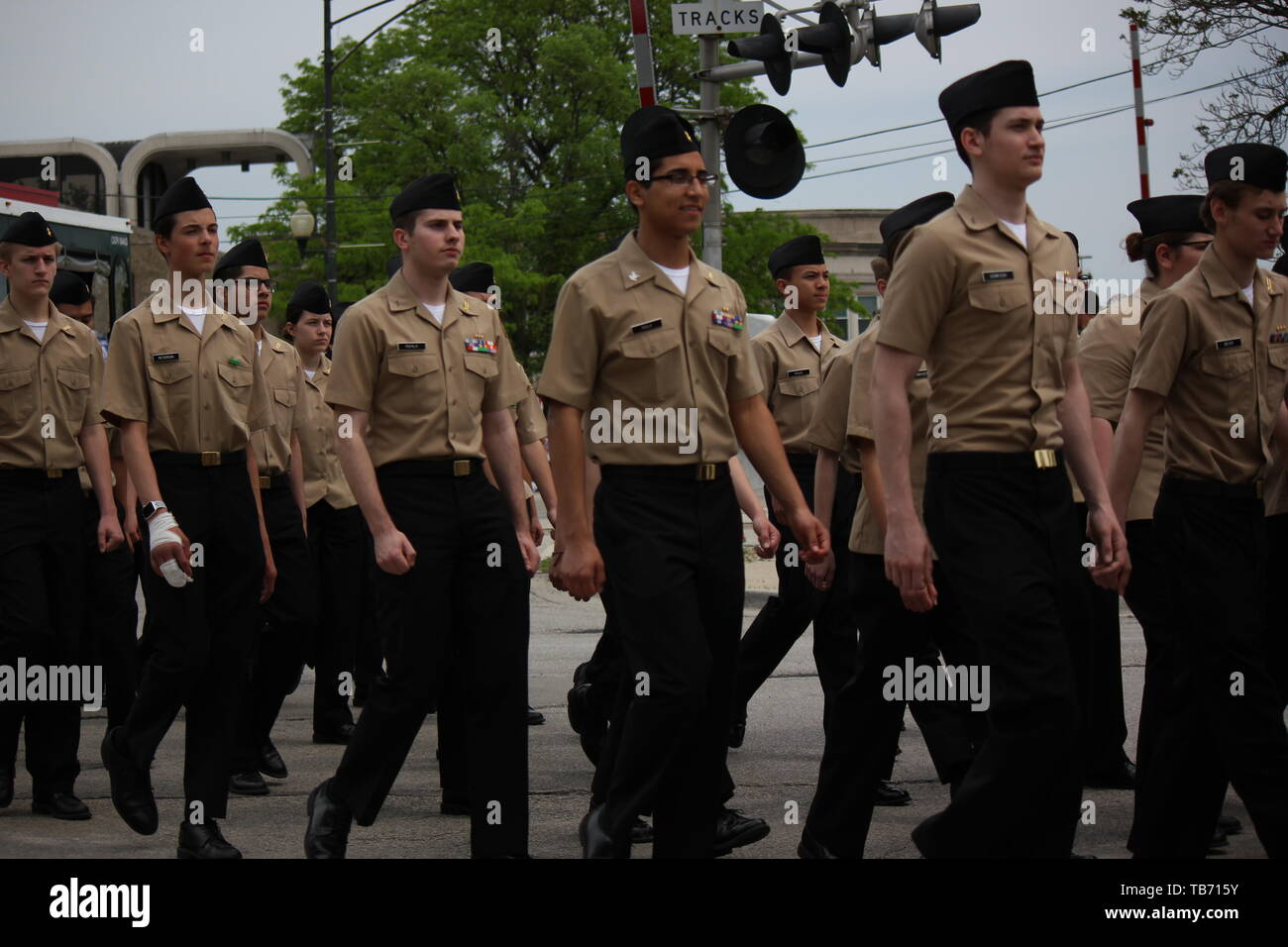 Chicago's Northwest side Memorial Day Parade. - Stock Image
