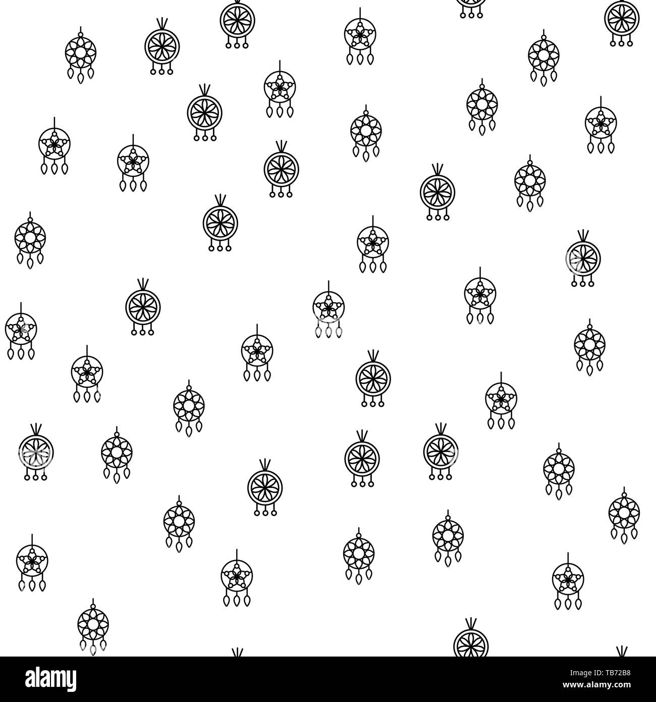 Various Jewelry Earrings Seamless Pattern Vector. Different Fashionable Stylish Circle Earrings Monochrome Texture Icons. Assortment Of Elegance Bijou - Stock Image
