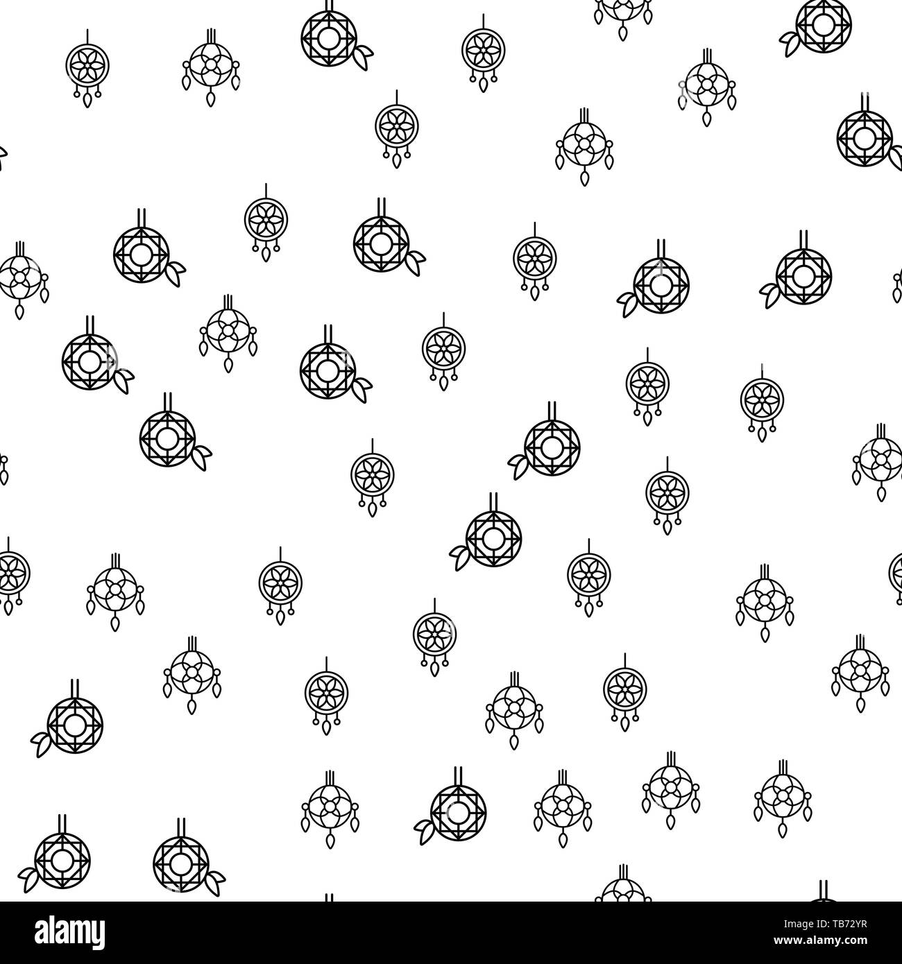 Various Jewelry Ornaments Seamless Pattern Vector. Different Luxury Jewelry Pendant Or Earrings Monochrome Texture Icons. Assortment Of Coulomb Bijout - Stock Image