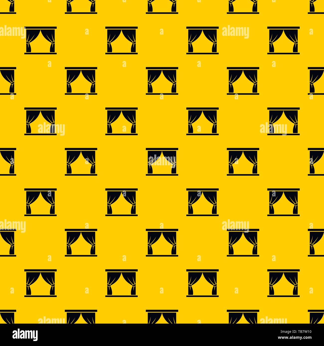 Curtain on stage pattern vector - Stock Vector