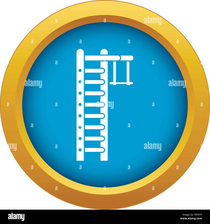 Swedish ladder icon blue vector isolated - Stock Image