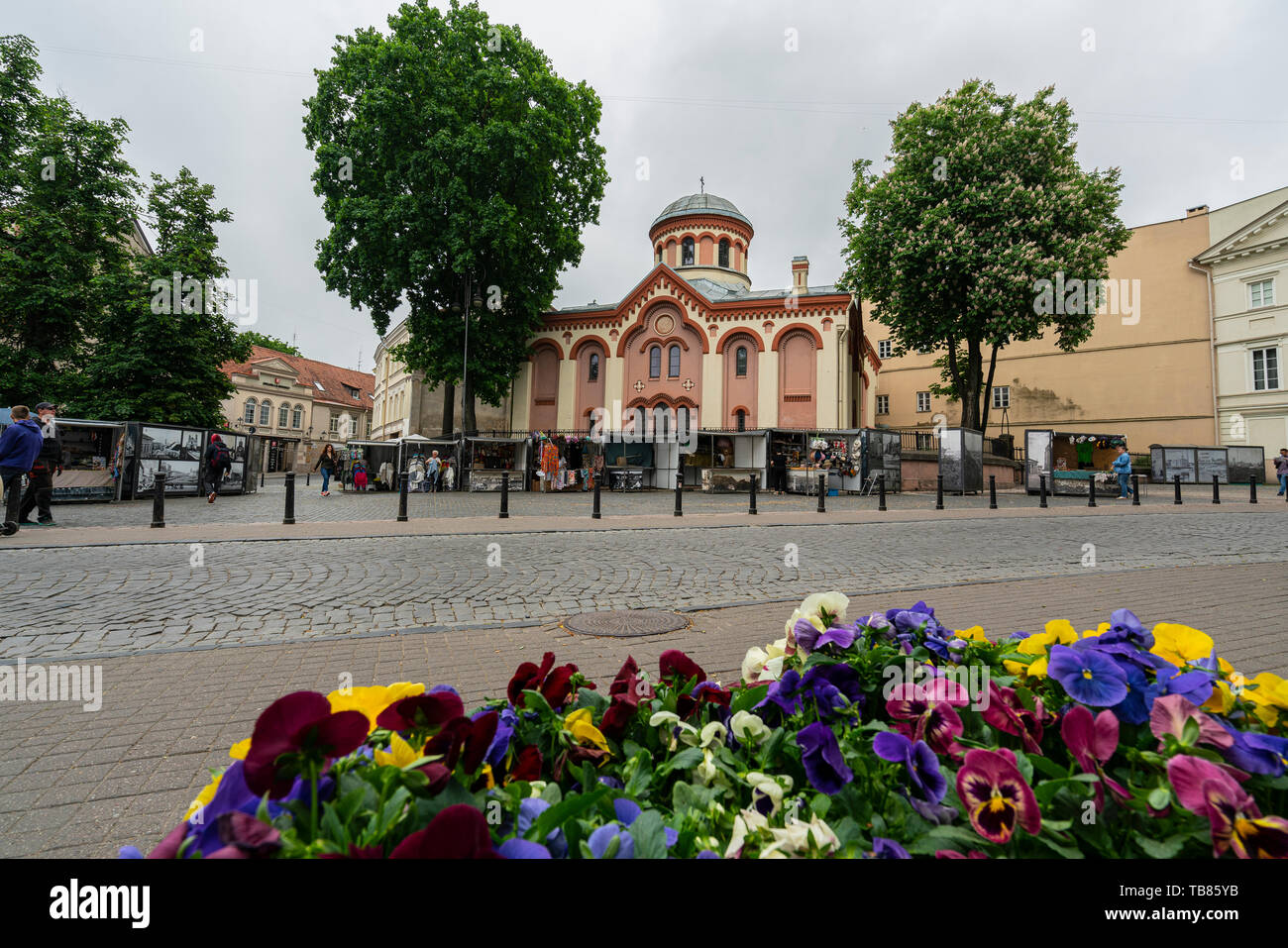 Vilnius, Lithuania. May 2019.   An outdoor view of Saint Parasceve Orthodox Church Stock Photo