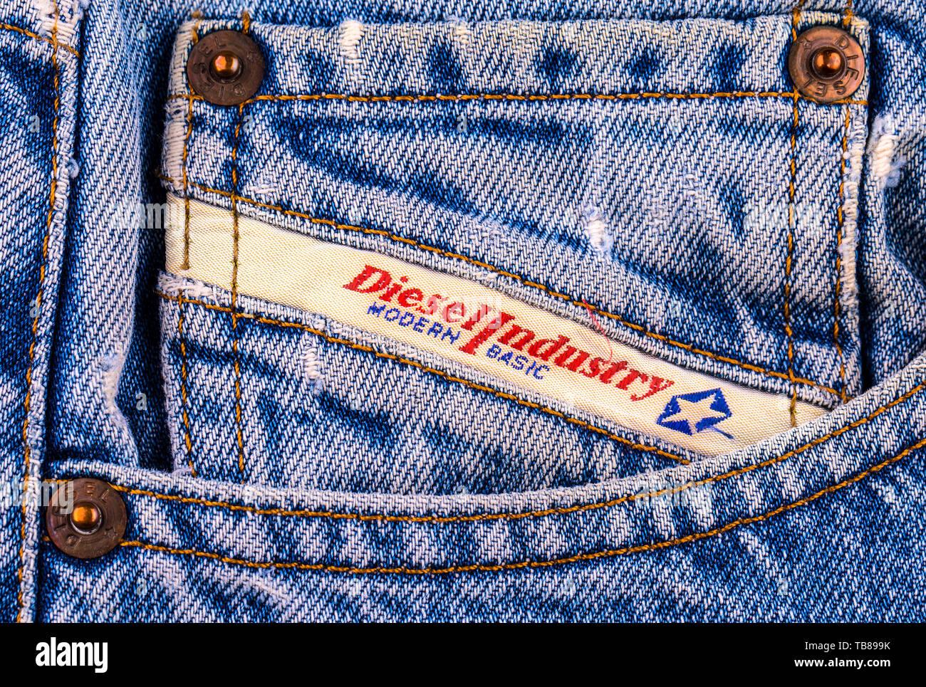 90564da7 Chisinau, Moldova February 10, 2017: Back pocket jeans Diesel. Diesel -  Italian
