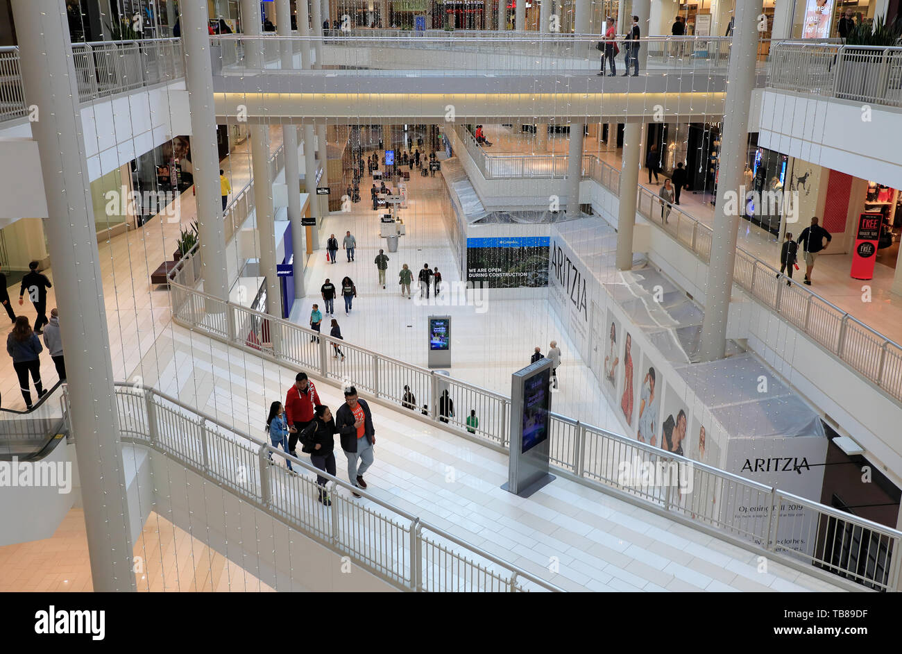 Interior view of Mall of America, the largest shopping mall in United States. Bloomington.Minnesota.USA - Stock Image