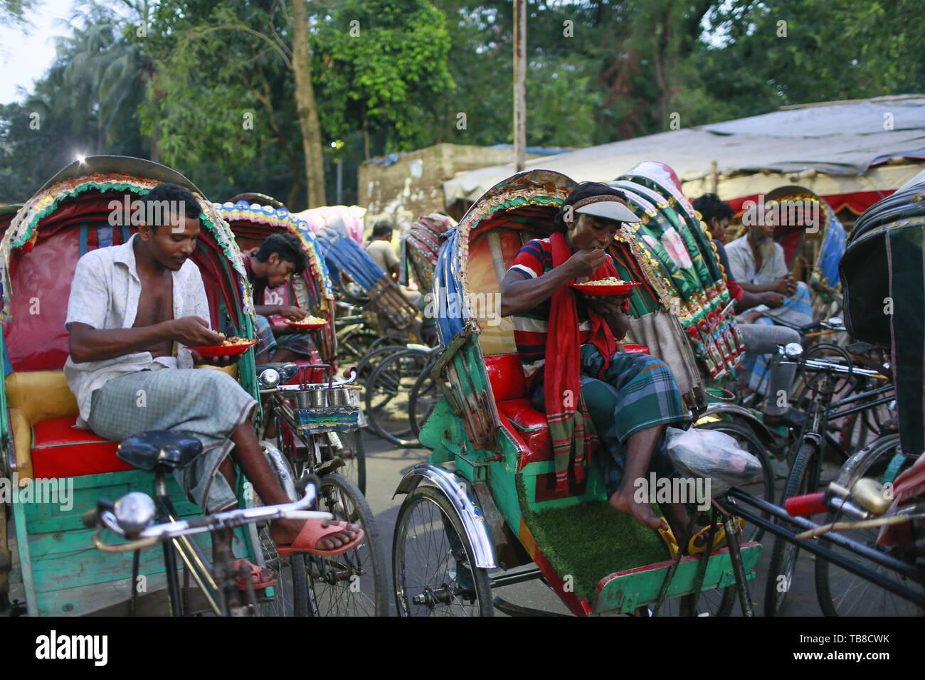 Dhaka, Bangladesh  30th May, 2019  Bangladeshi rickshaw