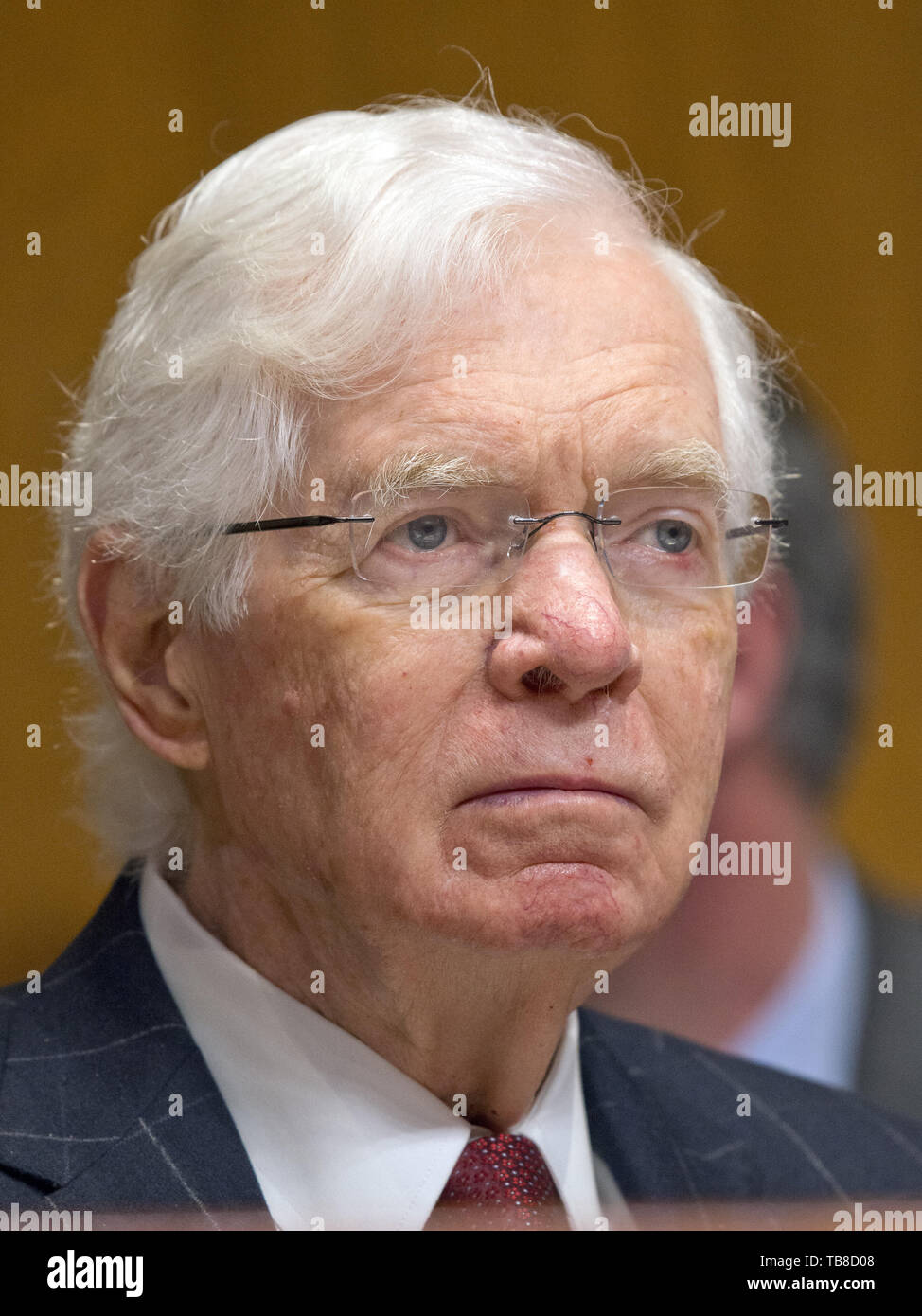 May 30, 2019: THAD COCHRAN, former Senate Appropriations chairman, has died at age 81. William Thad Cochran was an American attorney and politician who served as a United States Senator from Mississippi from 1978 to 2018, as a member of the Republican Party, and previously served as a member of the U.S. House of Representatives from 1973 to 1978. Pictured: March 22, 2017, Washington, DC, U.S.: Senator Thad Cochran (Rep. of MS) listens as US Secretary of Defense Mattis and the Chairman of the Joint Chiefs of Staff, US Marine Corps General Dunford, Jr. testify during a US Senate Committee on App - Stock Image