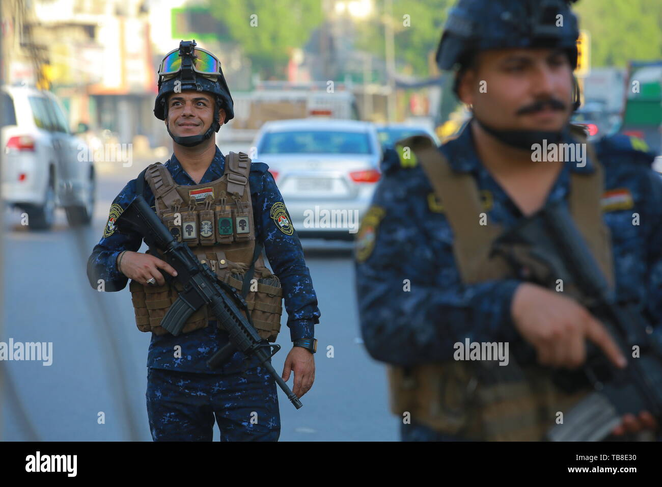 Baghdad, Iraq  30th May, 2019  Members of the Iraqi federal