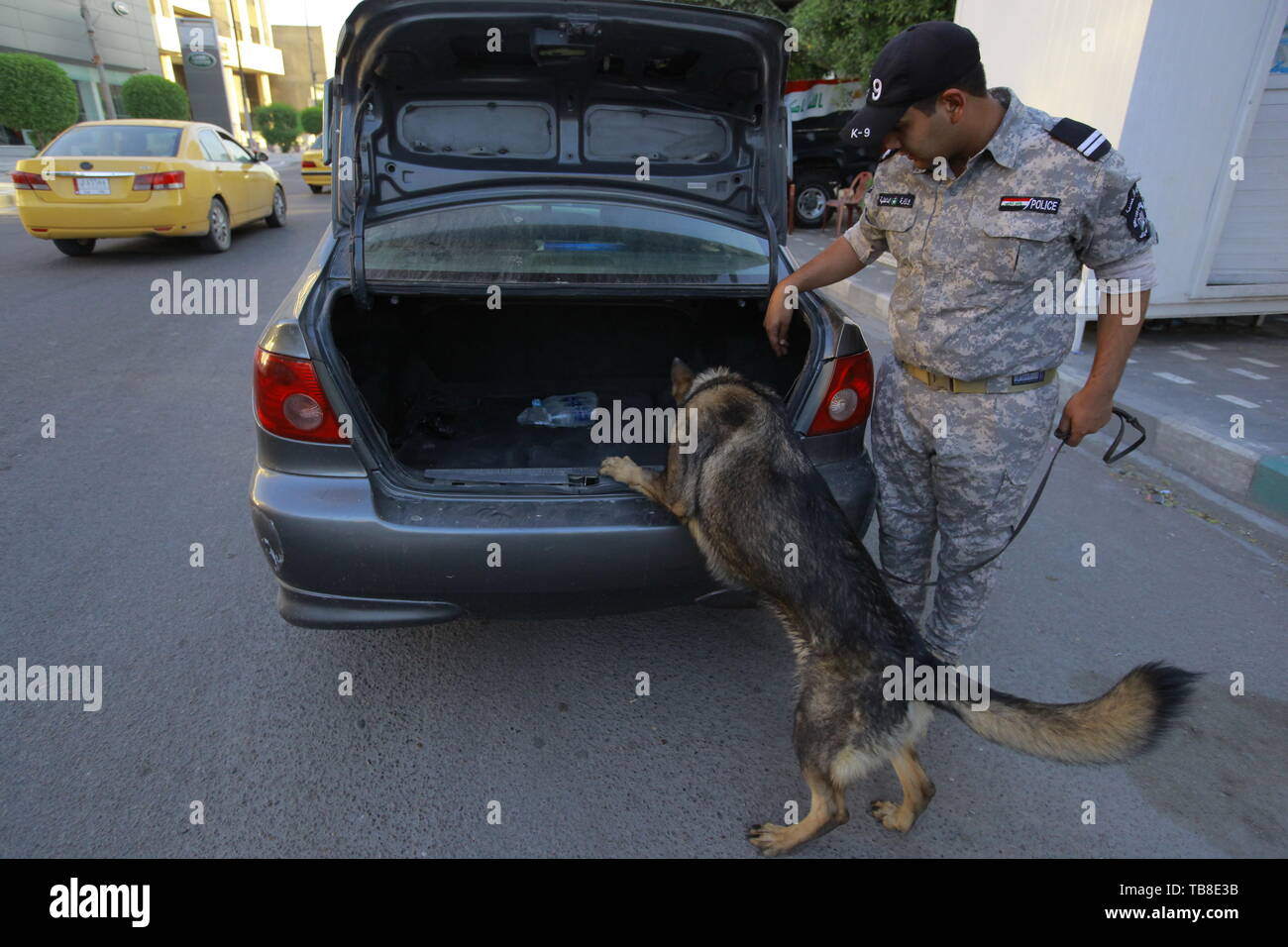 Baghdad, Iraq  30th May, 2019  A member of Iraqi federal police