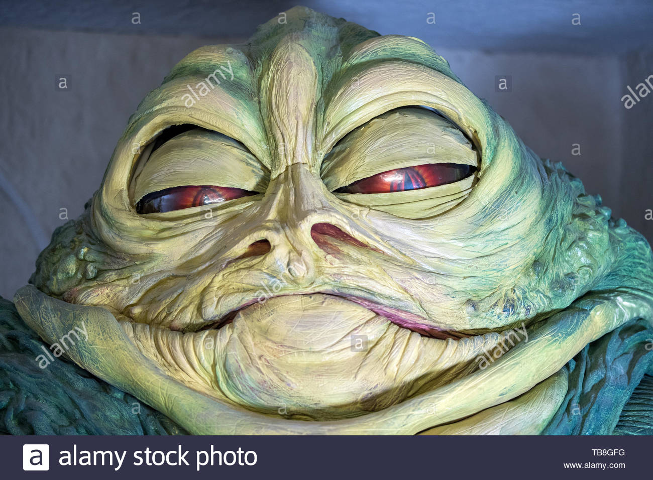 99a23ef2d0 27 May 2019, Mecklenburg-Western Pomerania, Dassow: The replica of Jabba,