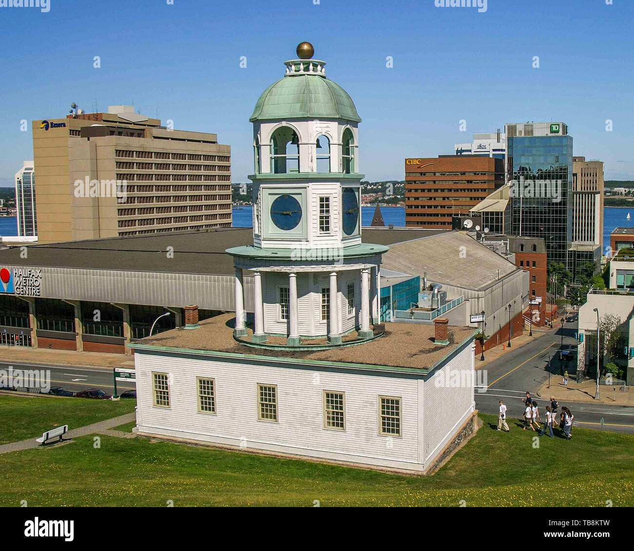 Halifax, Nova Scotia, Canada. 5th Sep, 2005. Built in 1803, the Halifax Town Clock is a major landmark on the eastern slope of Citadel Hill. Credit: Arnold Drapkin/ZUMA Wire/Alamy Live News - Stock Image