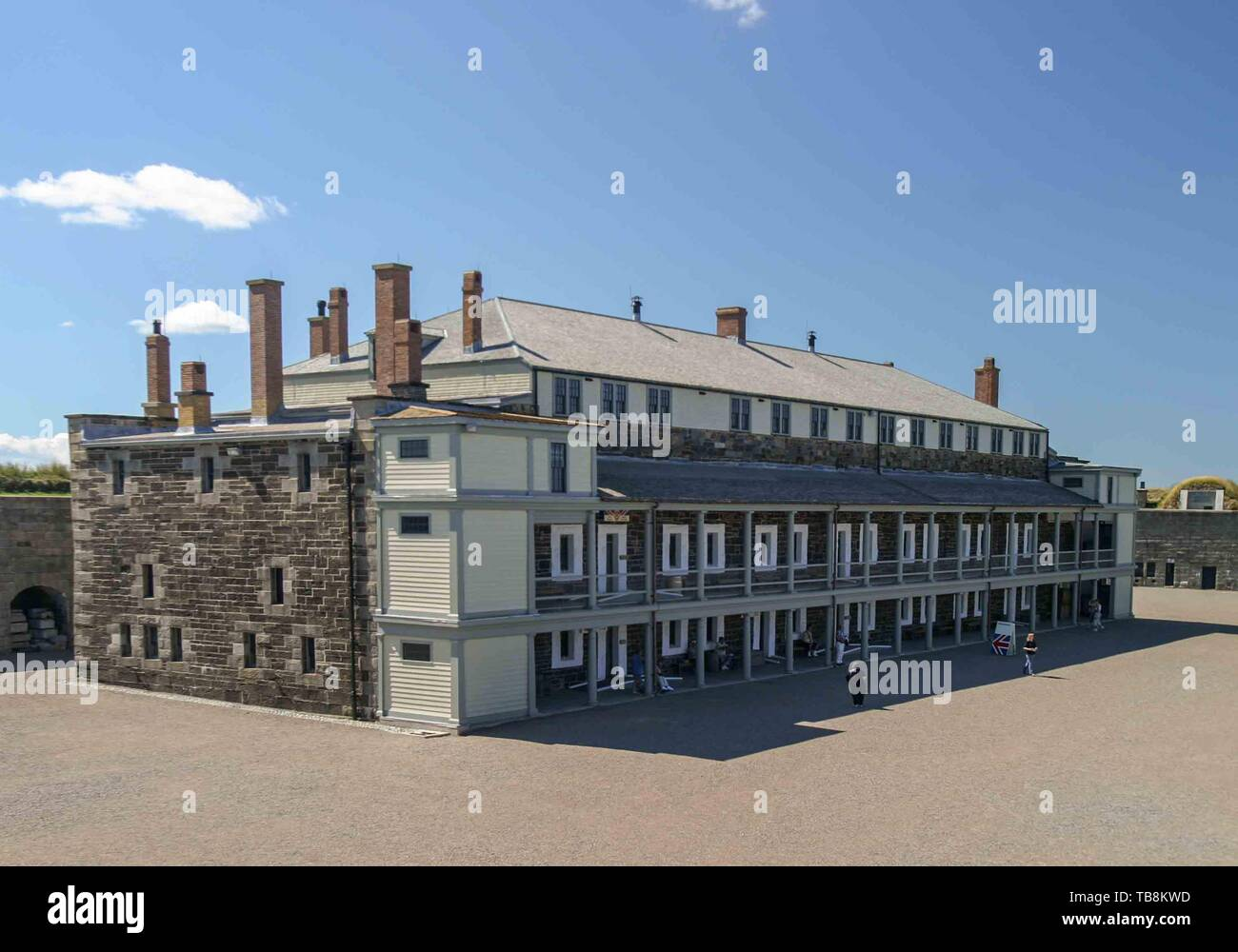 Halifax, Nova Scotia, Canada. 5th Sep, 2005. Citadel Hill (Fort George), a Canadian National Historic Site in Halifax, Nova Scotia, has been restored to its historic appearance. A living history museum, the fort is among the most visited sites in Atlantic Canada. Credit: Arnold Drapkin/ZUMA Wire/Alamy Live News - Stock Image