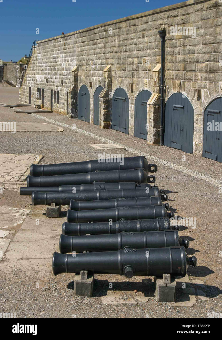 Halifax, Nova Scotia, Canada. 5th Sep, 2005. Many historic antique cannon can be seen on Citadel Hill (Fort George), a National Historic Site in Halifax, Nova Scotia. A living history museum, the fort is among the most visited sites in Atlantic Canada. Credit: Arnold Drapkin/ZUMA Wire/Alamy Live News - Stock Image