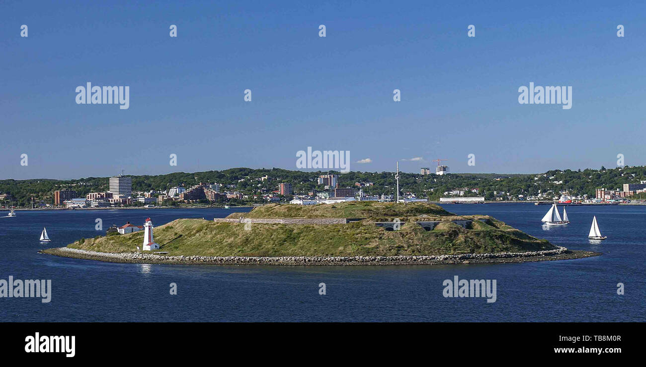Halifax, Nova Scotia, Canada. 5th Sep, 2005. Georges Island (named after George II of Great Britain) is the largest island entirely within the harbor of Halifax, Nova Scotia. Credit: Arnold Drapkin/ZUMA Wire/Alamy Live News - Stock Image