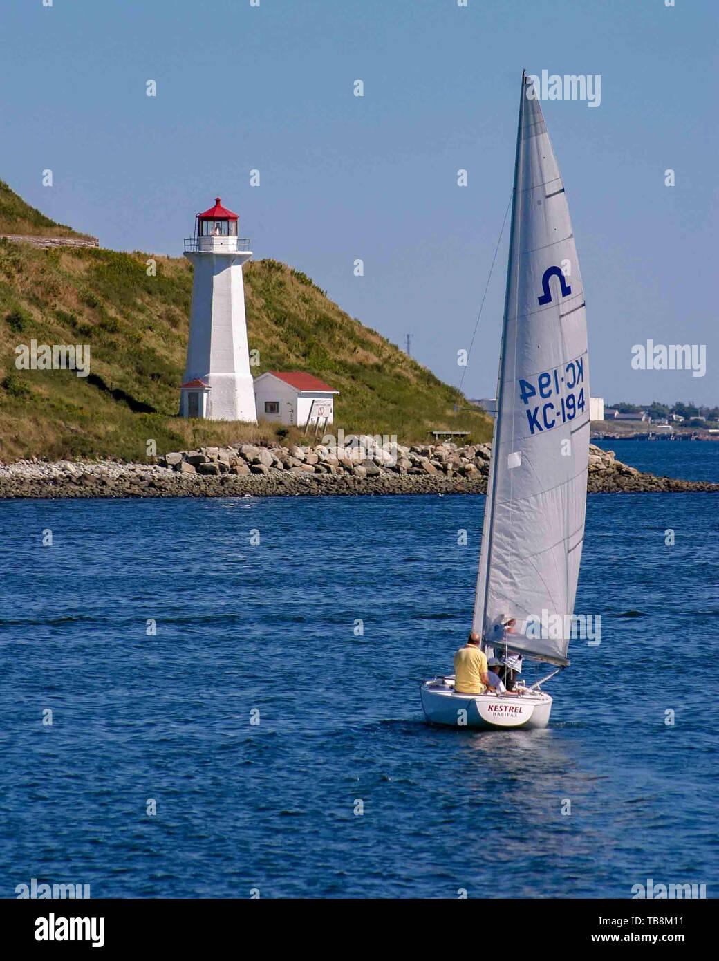 Halifax, Nova Scotia, Canada  5th Sep, 2005  Sailing in