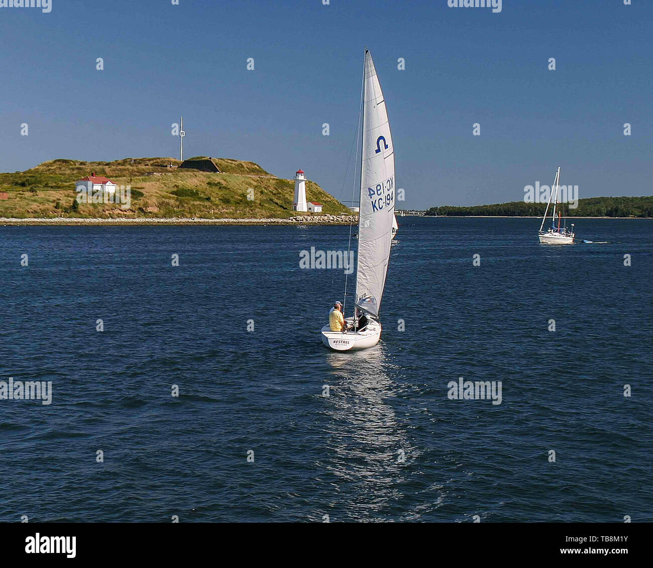 Halifax, Nova Scotia, Canada. 5th Sep, 2005. Sailing in Halifax Harbor, near Georges Island and the lighthouse. A favorite pastime for Nova Scotians and tourists. Credit: Arnold Drapkin/ZUMA Wire/Alamy Live News - Stock Image