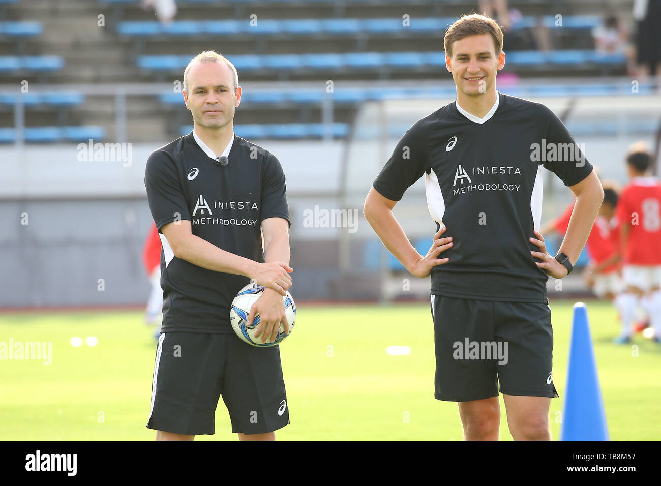 Andres Iniesta of Vissel Kobe attends his football academy 'Iniesta's Methodology' event in Sakai, Osaka, Japan on May 29, 2019. Credit: Pasya/AFLO/Alamy Live News - Stock Image