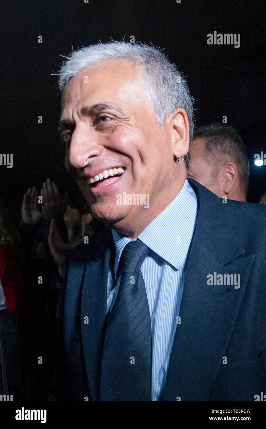 Corigliano Rossano, Giuseppe Graziano, candidate for mayor of the new municipality of Corigliano Rossano, after the first is on the ballot. 16/05/2019, Corigliano Rossano, Italy Stock Photo