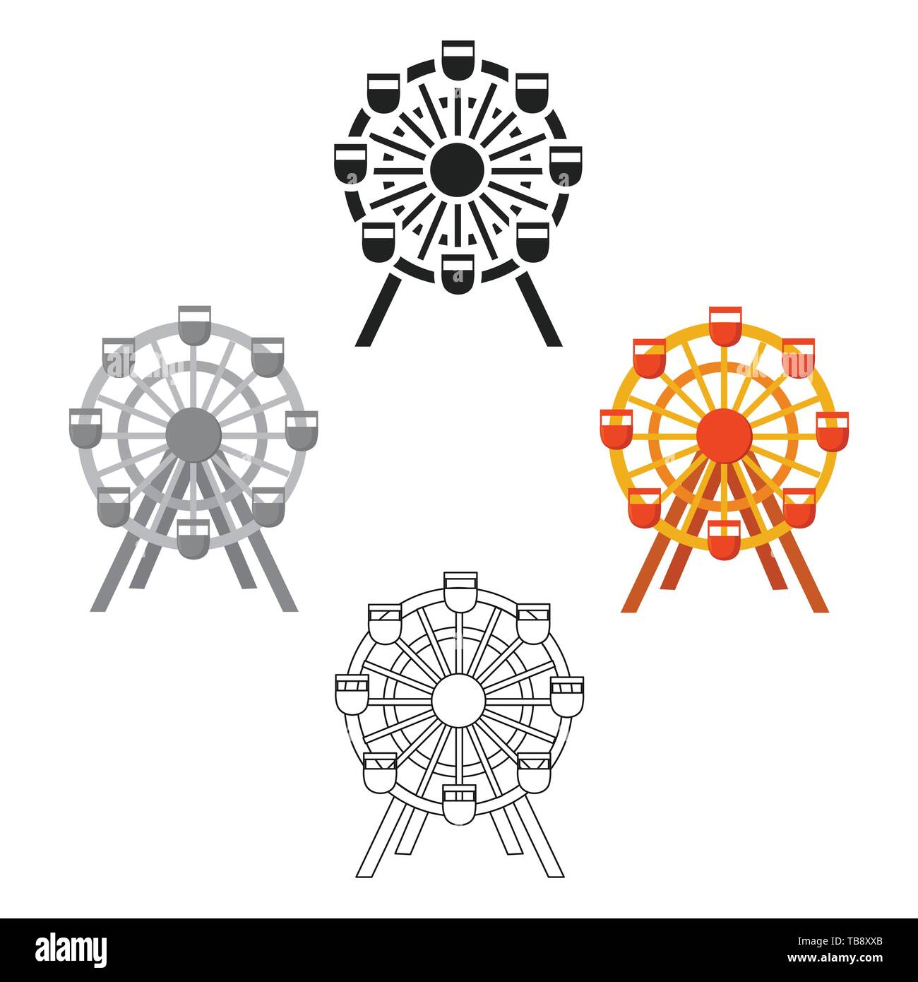 Ferris Wheel Icon Cartoon Black Single Building Icon From The Big City Infrastructure Cartoon Stock Vector Image Art Alamy