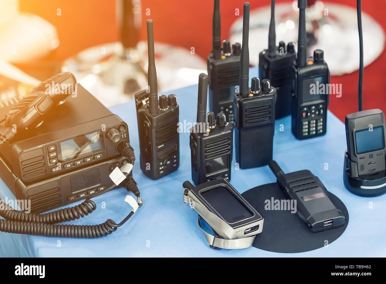 Military Radio Transmitter Receiver Stock Photos & Military