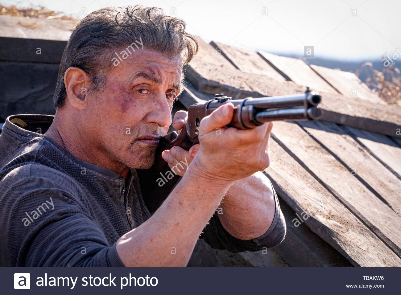 RELEASE DATE: September 20, 2019 TITLE: Rambo: Last Blood STUDIO: Lionsgate DIRECTOR: Adrian Grunberg PLOT: Rambo must confront his past and unearth his ruthless combat skills to exact revenge in a final mission. A deadly journey of vengeance, RAMBO: LAST BLOOD marks the last chapter of the legendary series. STARRING: SYLVESTER STALLONE as Rambo. (Credit Image: © Lionsgate/Entertainment Pictures) - Stock Image