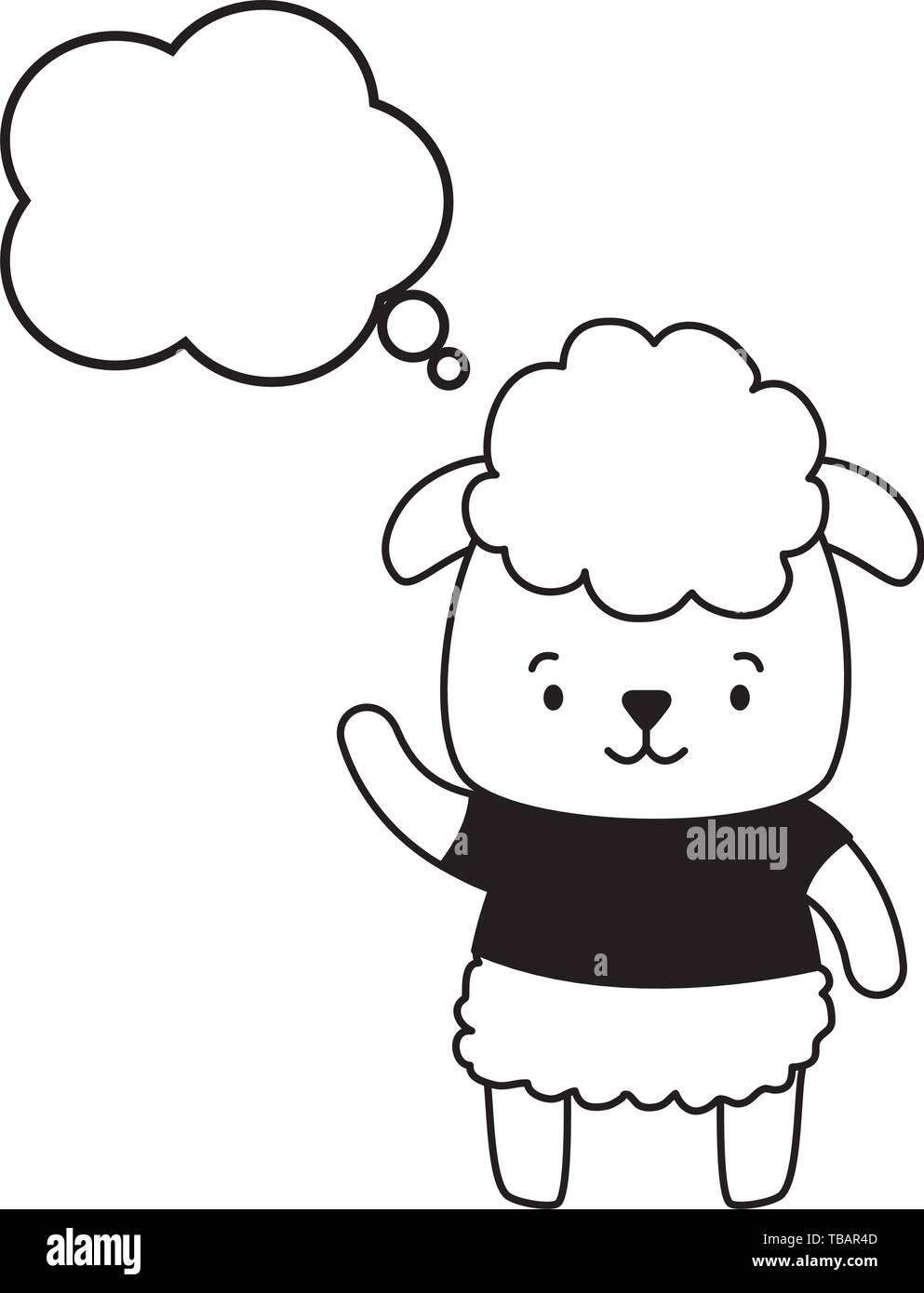 cute animal cartoon Stock Vector