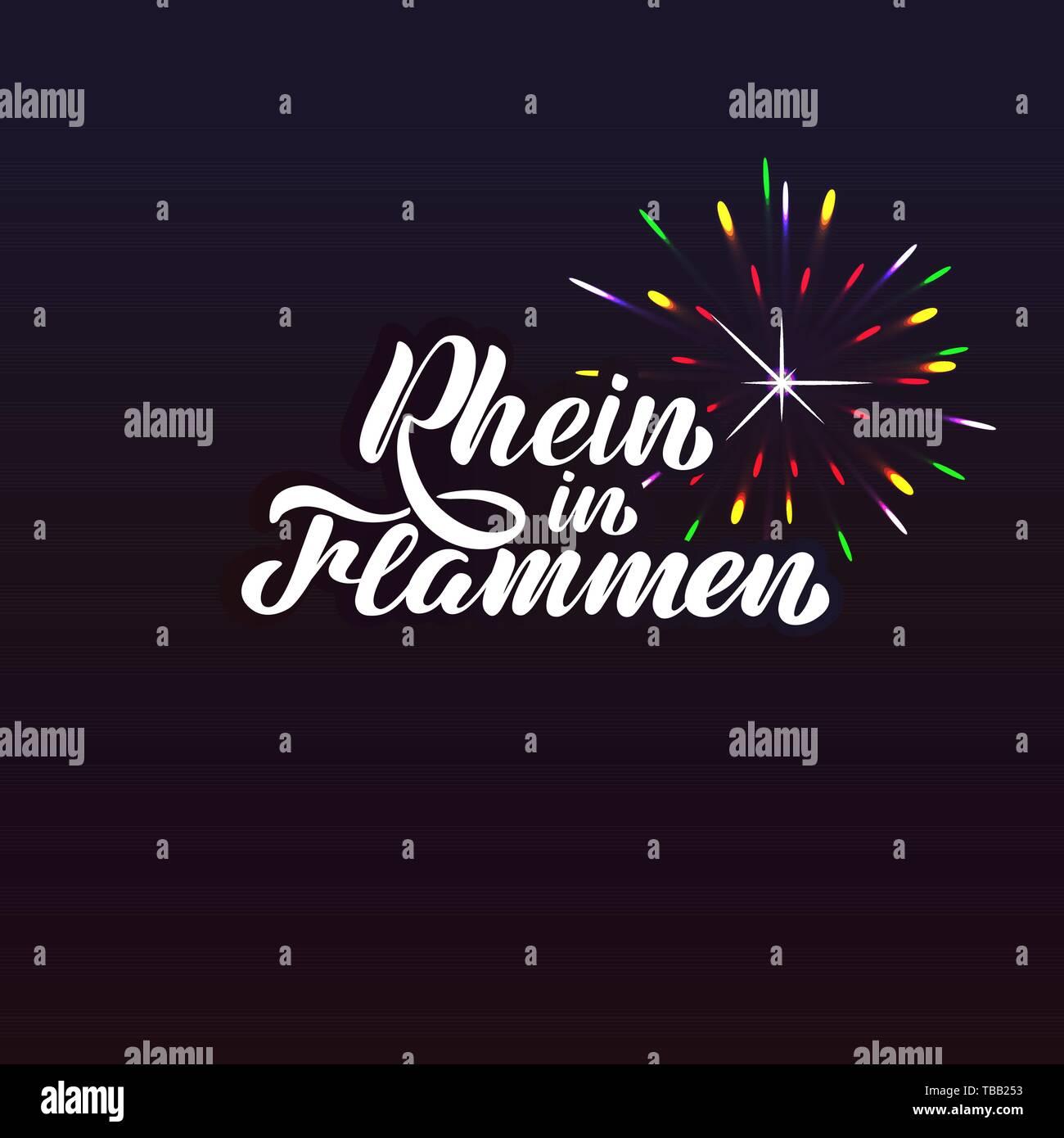 Festival Rhine in Flames - Rhein in Flammen. - Stock Image