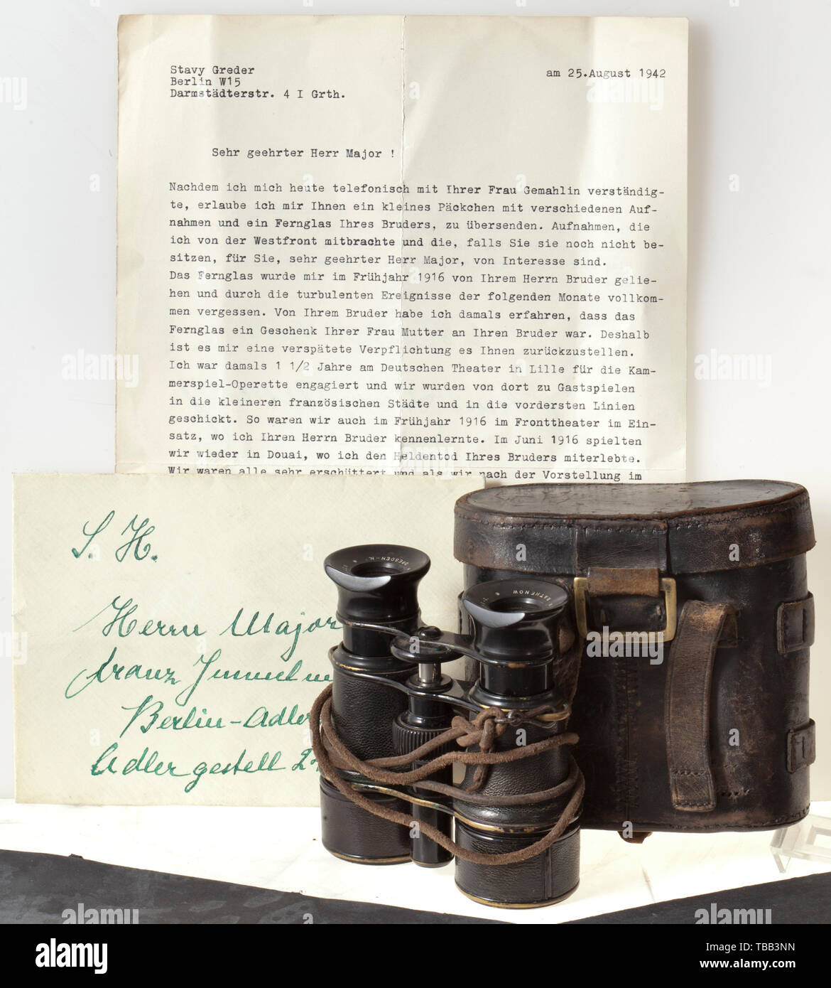 separation shoes 00f5d 73fa3 First Lieutenant Max Immelmann - field glasses from the Emil Busch AG in  Rathenow in a