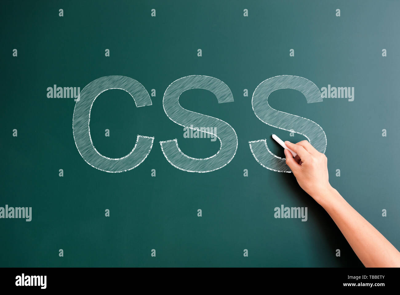 css written on blackboard - Stock Image