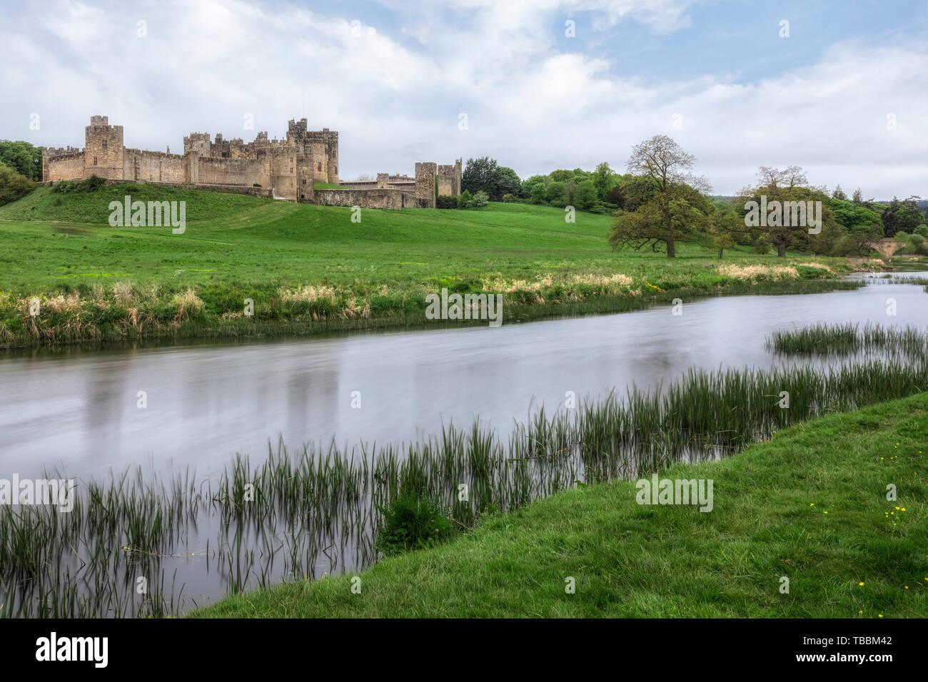Alnwick Castle, Northumberland, UK, Europe - Stock Image