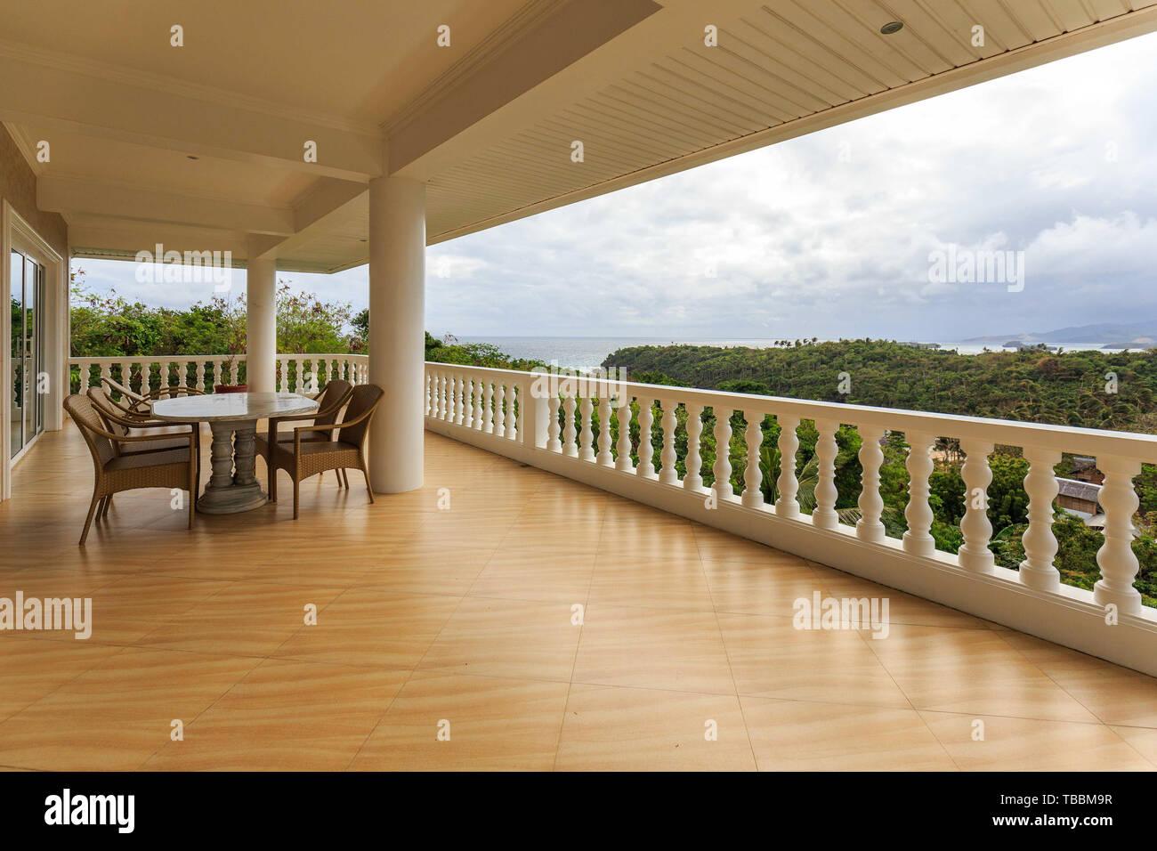 Hotel model room, sea balcony Stock Photo