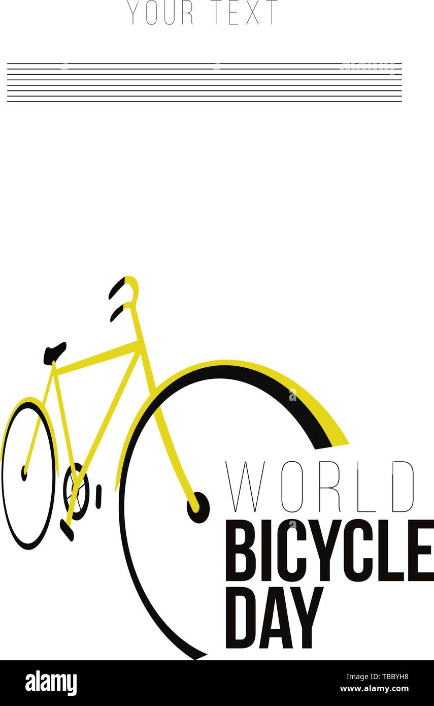 World bicycle day. Vector illustration - Vector - Stock Image