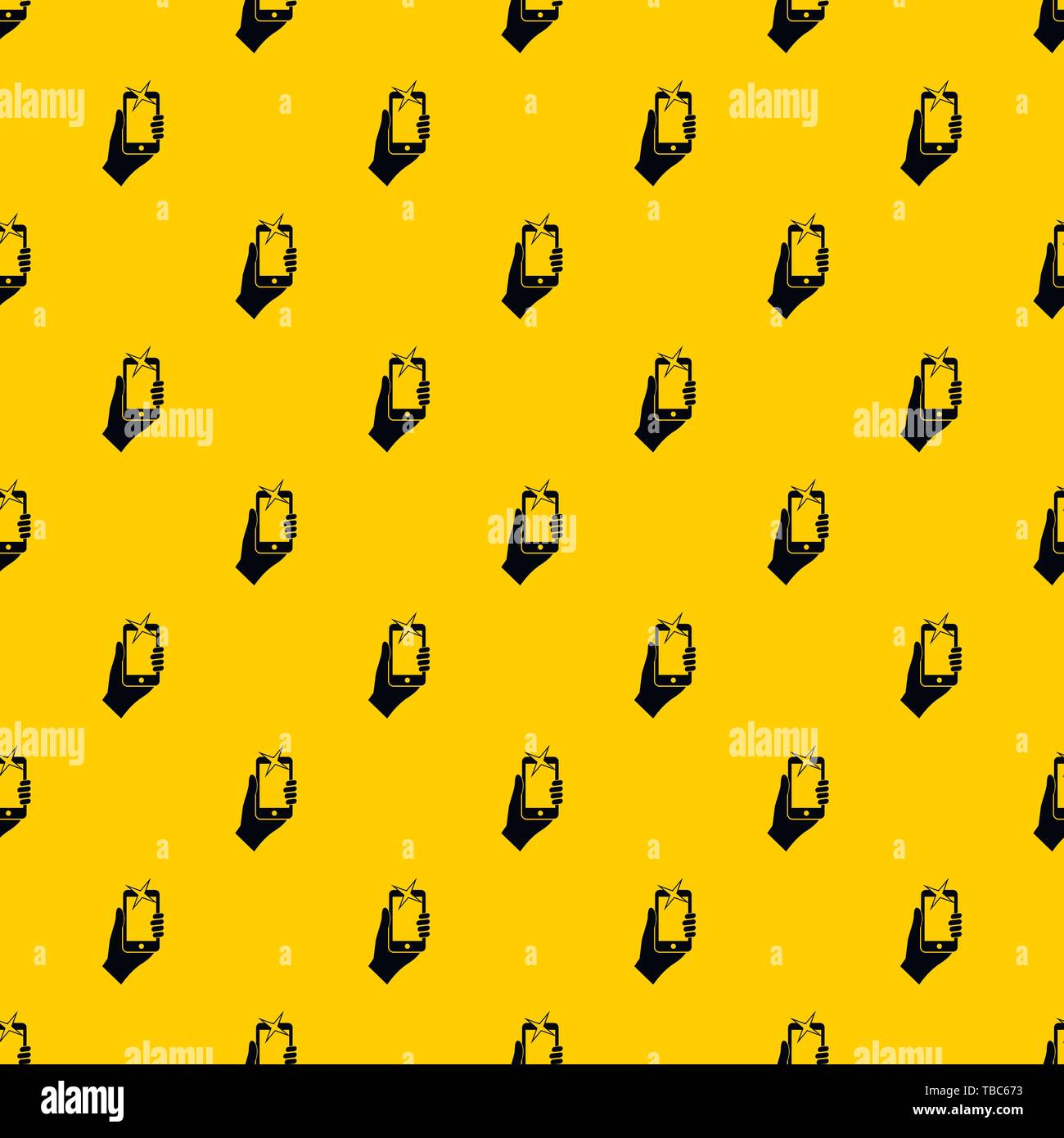 Hand photographed on mobile phone pattern vector - Stock Vector