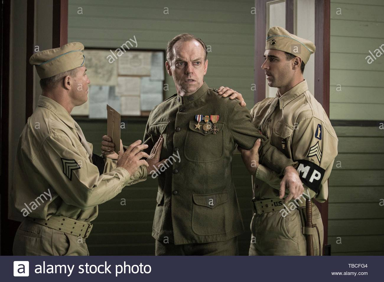 HUGO WEAVING in HACKSAW RIDGE (2016). Copyright: Editorial inside use only. This is a publicly distributed handout. Access rights only, no license of copyright provided. Mandatory authorization to Visual Icon (www.visual-icon.com) is required for the reproduction of this image. Credit: PANDEMONIUM/PERMUT PRESENTATIONS / Album - Stock Image