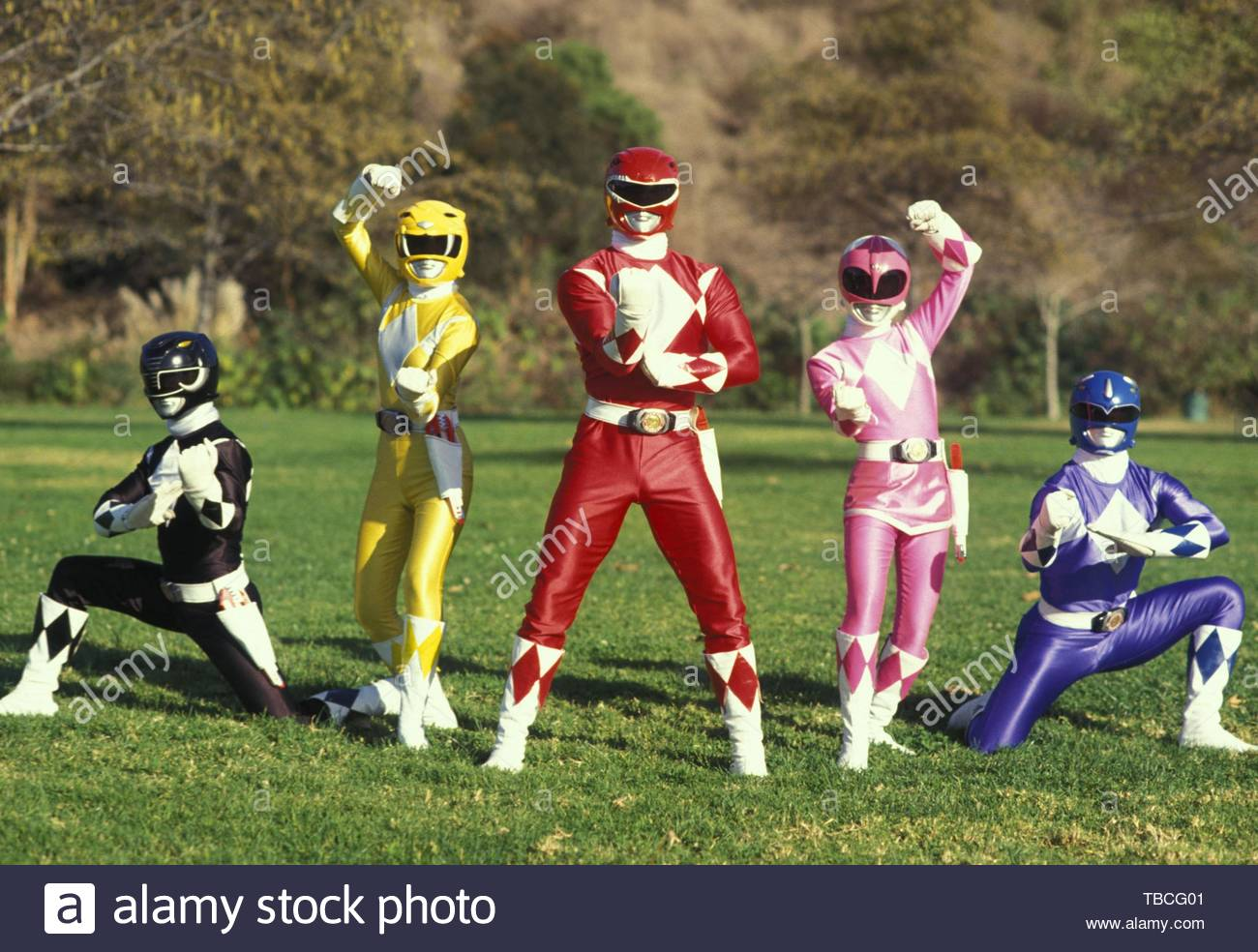 MIGHTY MORPHIN POWER RANGERS (1993). Copyright: Editorial inside use only. This is a publicly distributed handout. Access rights only, no license of copyright provided. Mandatory authorization to Visual Icon (www.visual-icon.com) is required for the reproduction of this image. Credit: TOEI CO. LTD. / Album - Stock Image