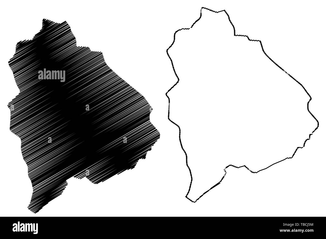 Raymah Governorate (Governorates of Yemen, Republic of Yemen) map vector illustration, scribble sketch Raymah map Stock Vector