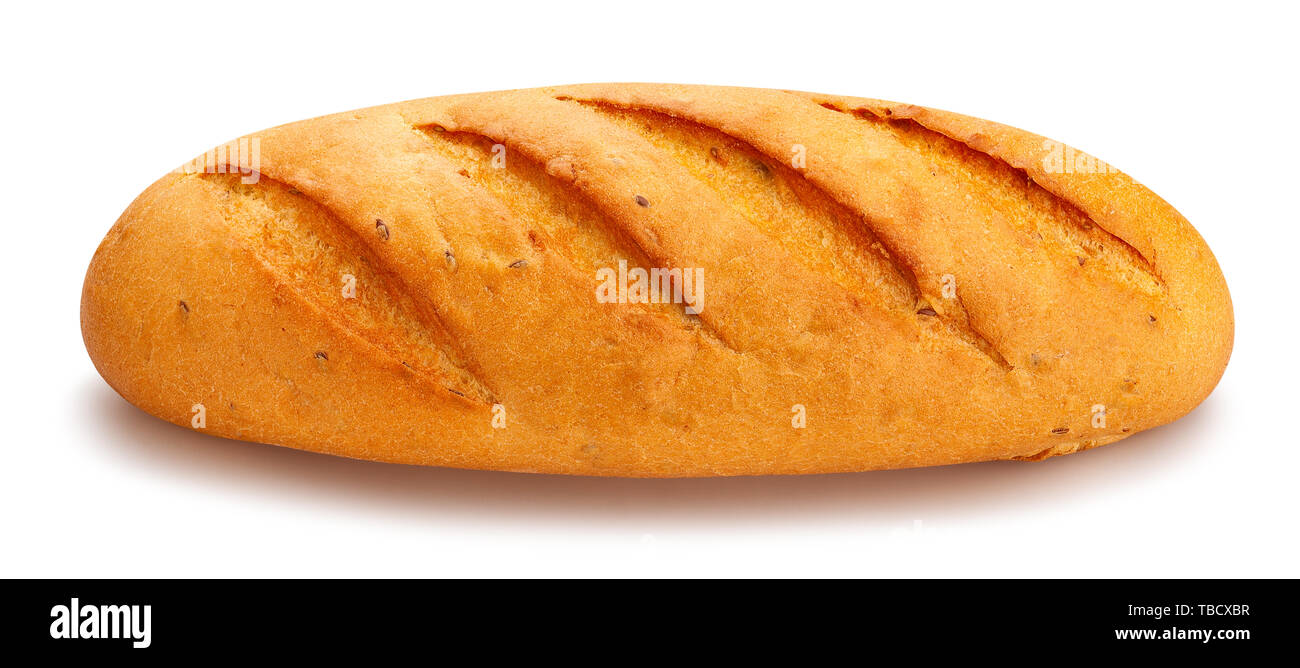 bread path isolated on white - Stock Image