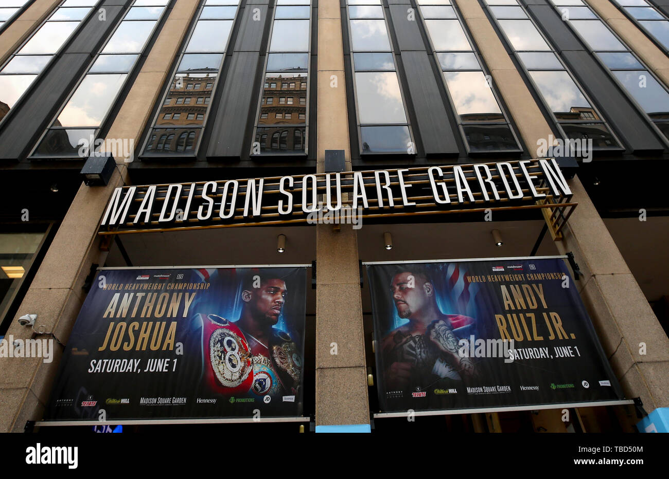 Posters Featuring Anthony Joshua And Andy Ruiz Outside Madison
