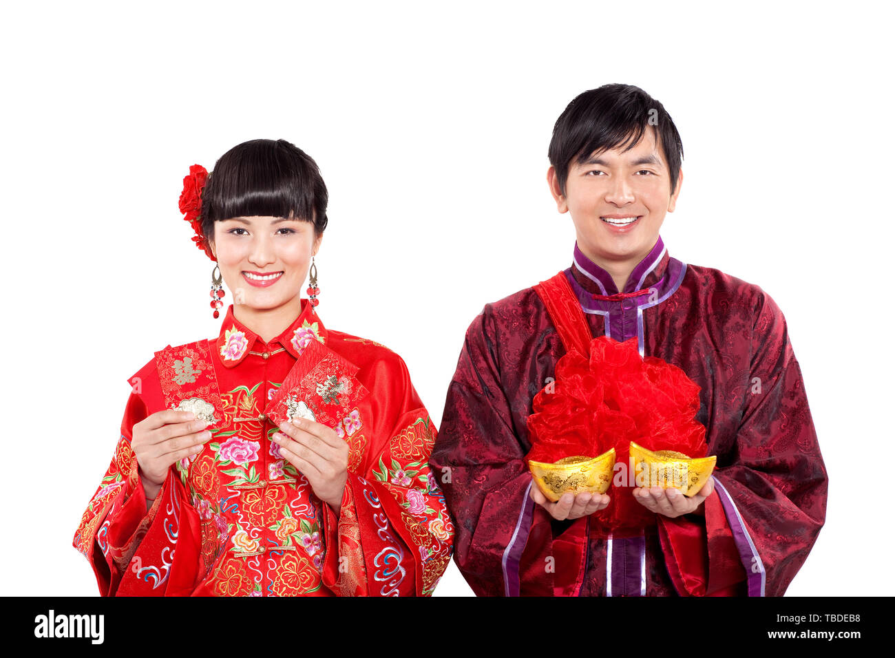 A couple's Chinese wedding. Stock Photo