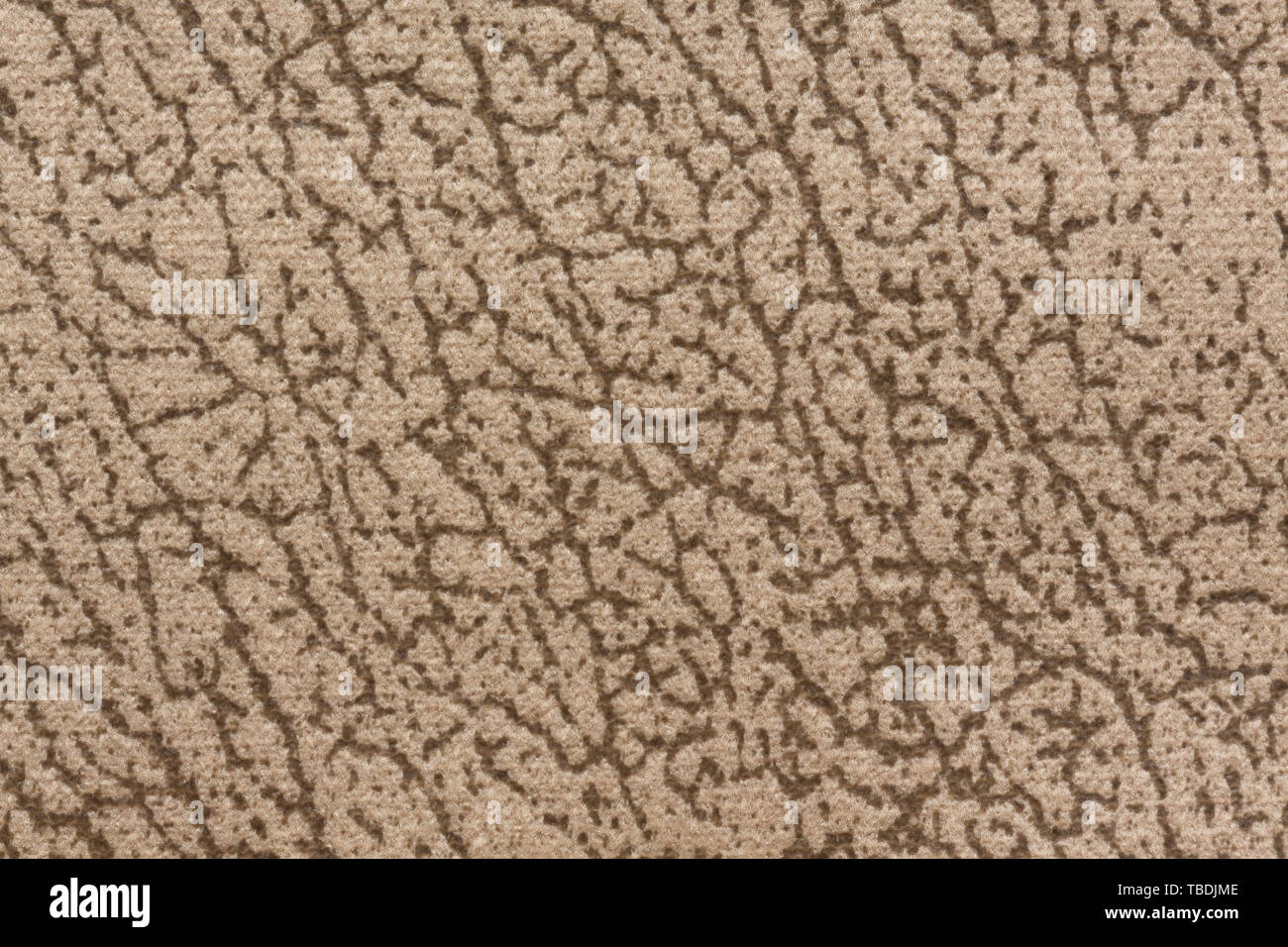 Unusual textile background with mottled surface on light beige colors. High resolution photo. - Stock Image