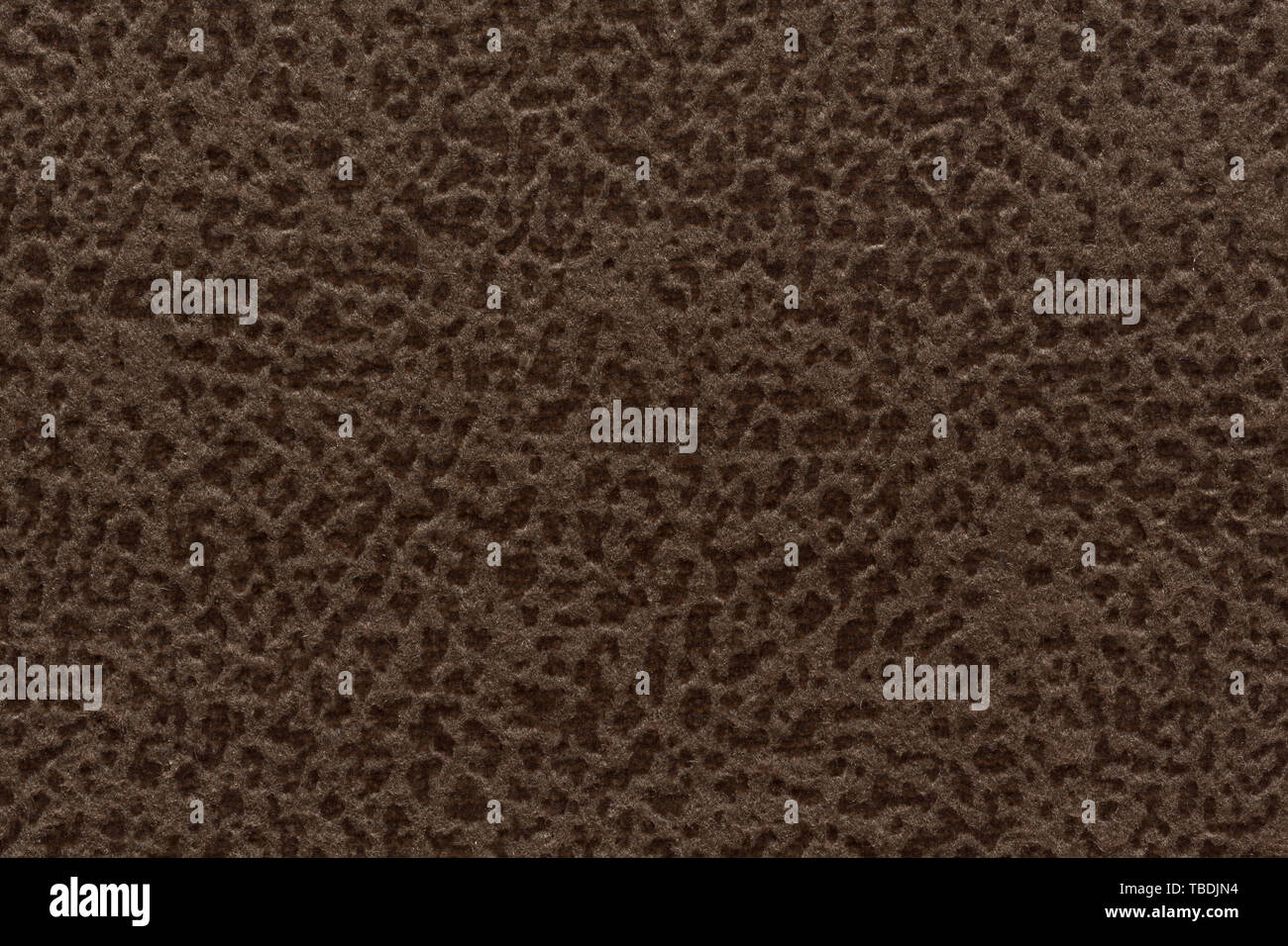 Marvelous textile background with speckled brown surface. High resolution photo. - Stock Image